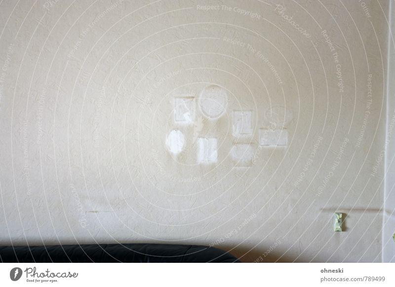 Fototapete II Häusliches Leben Wohnung Renovieren Umzug (Wohnungswechsel) Innenarchitektur Tapete Wohnzimmer Bilderrahmen Mauer Wand alt hässlich braun