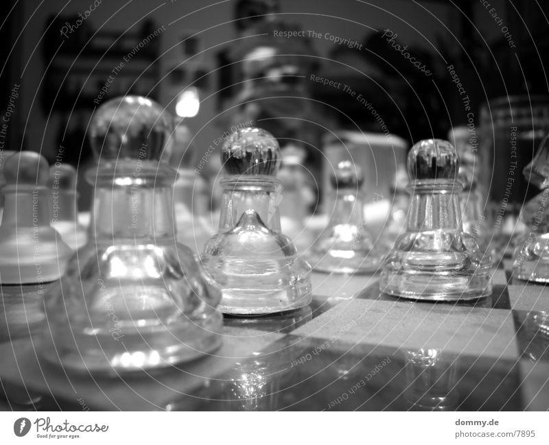 Bauernparade weiß schwarz Freizeit & Hobby Holzbrett Schachbrett Schwarzweißfoto