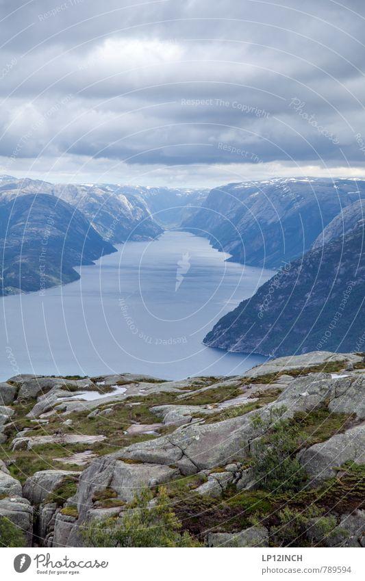 N O R W A Y - LySe - VII Natur Ferien & Urlaub & Reisen schön Wasser ruhig Landschaft Wolken Ferne Umwelt Berge u. Gebirge Wege & Pfade Freiheit Angst elegant Tourismus wandern
