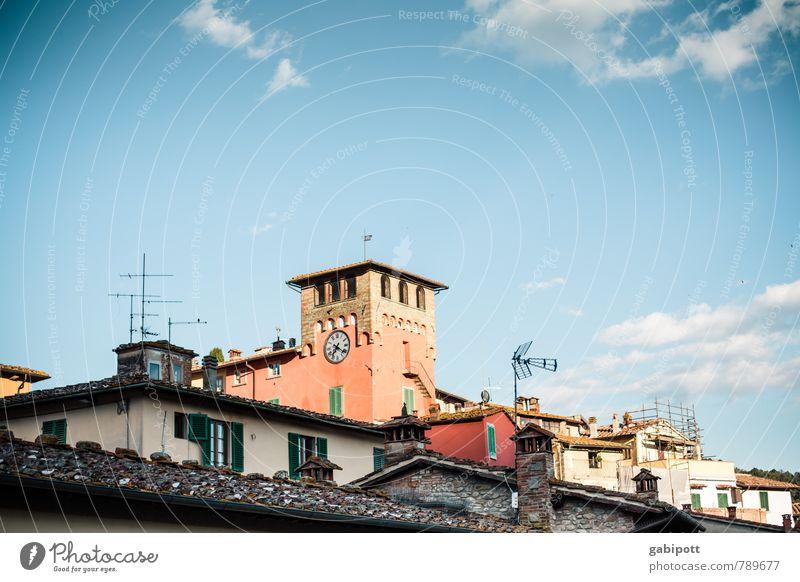 Loro Ciuffenna Ferien & Urlaub & Reisen Tourismus Ausflug Ferne Sightseeing Städtereise Sommer Sommerurlaub Himmel Wolken Schönes Wetter Italien Europa