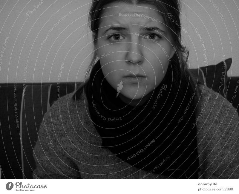 ScarySISTA II Frau schwarz weiß Mensch Kathrin erschroker Angst Schwarzweißfoto kaz