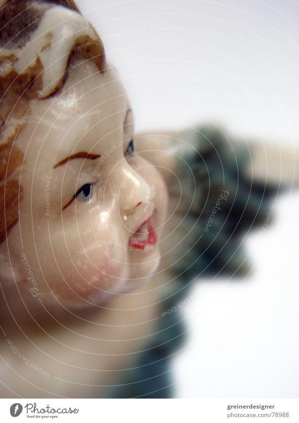 angekratzer Engel 01 Himmel Weihnachten & Advent alt fliegen Flügel historisch antik festlich gebraucht