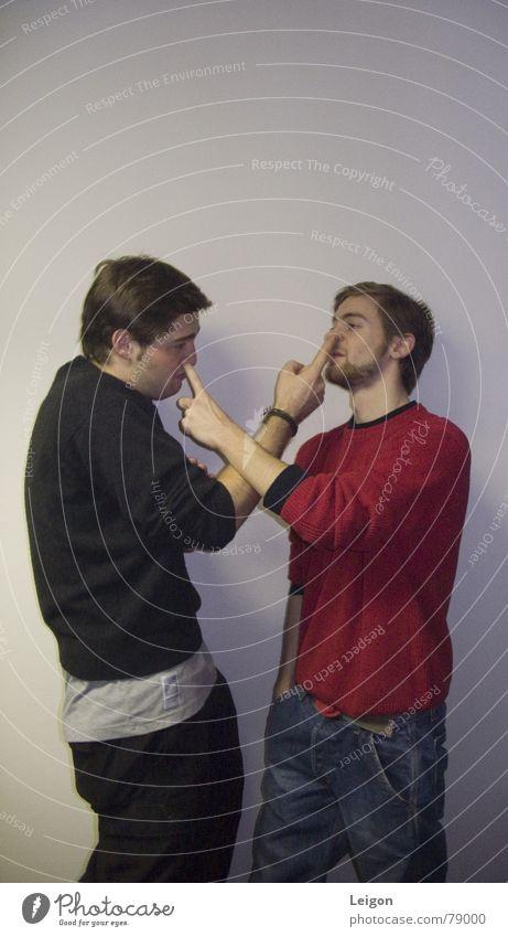 Nasenbohrer Hiphop Witz Freundschaft ausgehen Mann Freude Club nasenbohren in der nase bohren Mensch