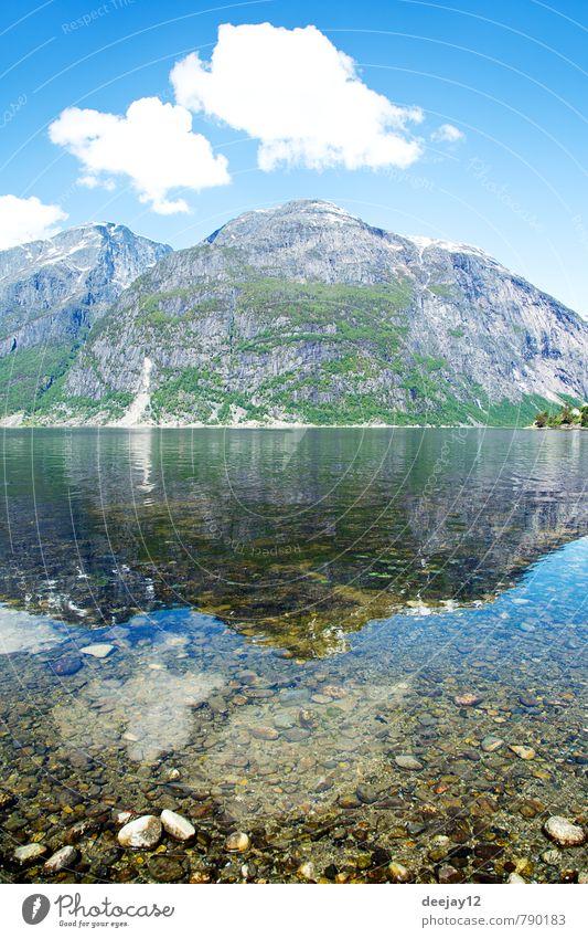 Eidfjord, Norwegen Schwimmen & Baden Natur Landschaft Sand Luft Wasser Himmel Wolken Sommer Wetter Schönes Wetter Wärme Felsen Berge u. Gebirge