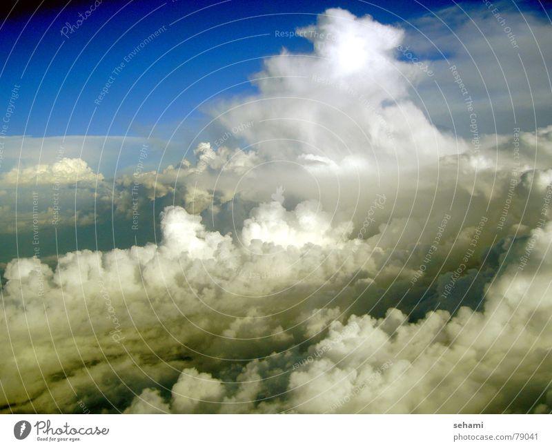 Über den Wolken Himmel Ferne Freiheit Luft Luftverkehr Niveau über den Wolken