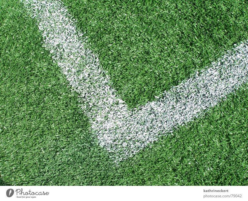 Es grünt so grün Sport Spielen Linie Fußball Ecke Rasen Tor