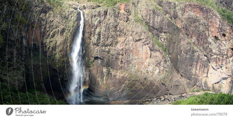 Wallaman Falls Wasser Felsen hoch Fluss fallen Bach Australien Wasserfall Queensland