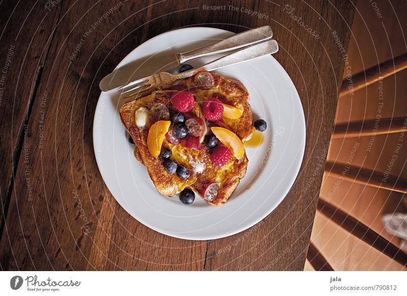 french toast natürlich Lebensmittel Frucht frisch Ernährung Tisch süß Stuhl lecker Bioprodukte Frühstück Appetit & Hunger Dessert Brot Teller Vitamin
