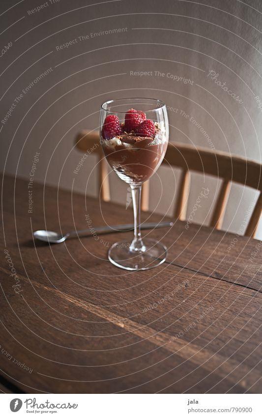 nachtisch Lebensmittel Milcherzeugnisse Frucht Ernährung Glas lecker süß Dessert Farbfoto Innenaufnahme Menschenleer Textfreiraum oben Tag