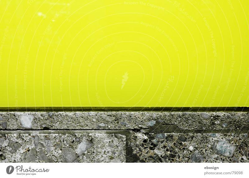 farbbeton gelb grün Strukturen & Formen horizontal Material Architektur Detailaufnahme Farbe Stein Linie ruhig modern