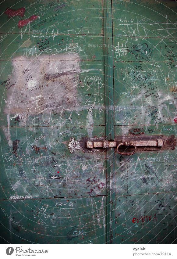Ondoor Typo Entwicklung alt Freude Farbe Wand Holz Mauer Kunst Tür Suche Schriftzeichen Hoffnung Kommunizieren Information Medien Gemälde Typographie