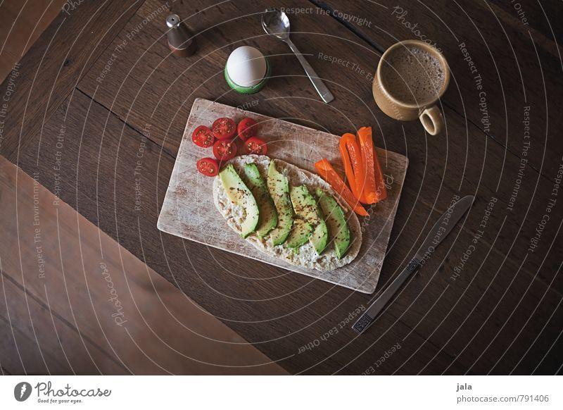 frühstück Lebensmittel Gemüse Brötchen Tomate Paprika Avocado Hühnerei Salz Ernährung Frühstück Bioprodukte Vegetarische Ernährung Getränk Heißgetränk Kaffee