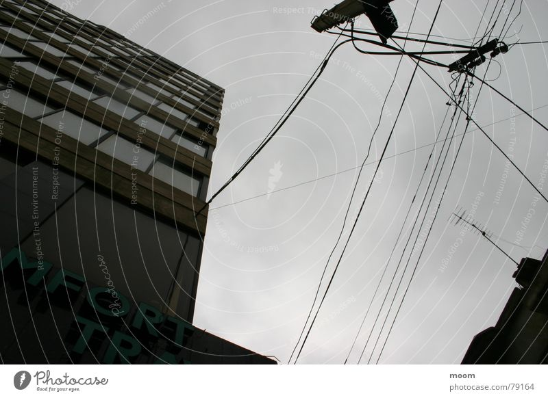 upsidedown Himmel Beirut Hochhaus Angelrute Stadt Architektur sky cabel architecture cloudy