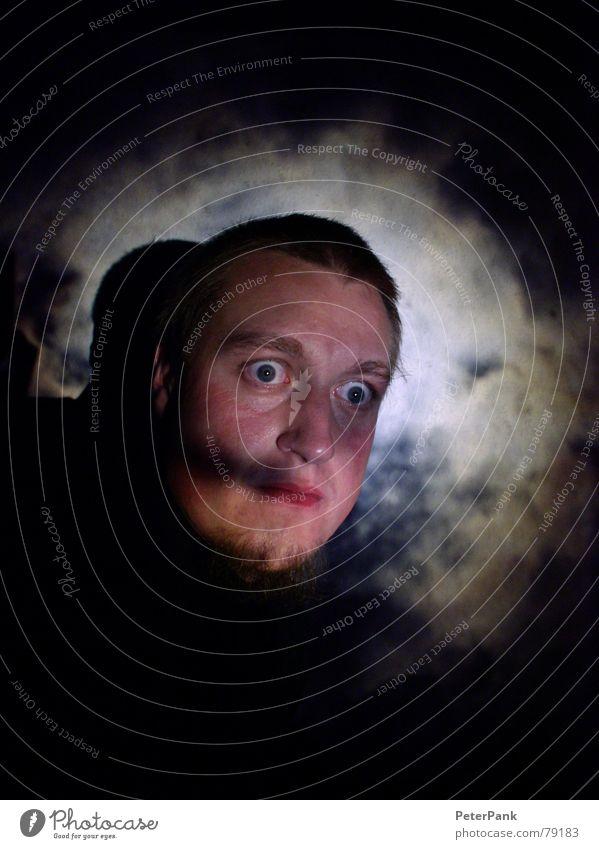 me (version) Himmel Mann blau Wolken Einsamkeit Gesicht schwarz Auge dunkel Kopf Denken hell blond Mund Fotografie Nase