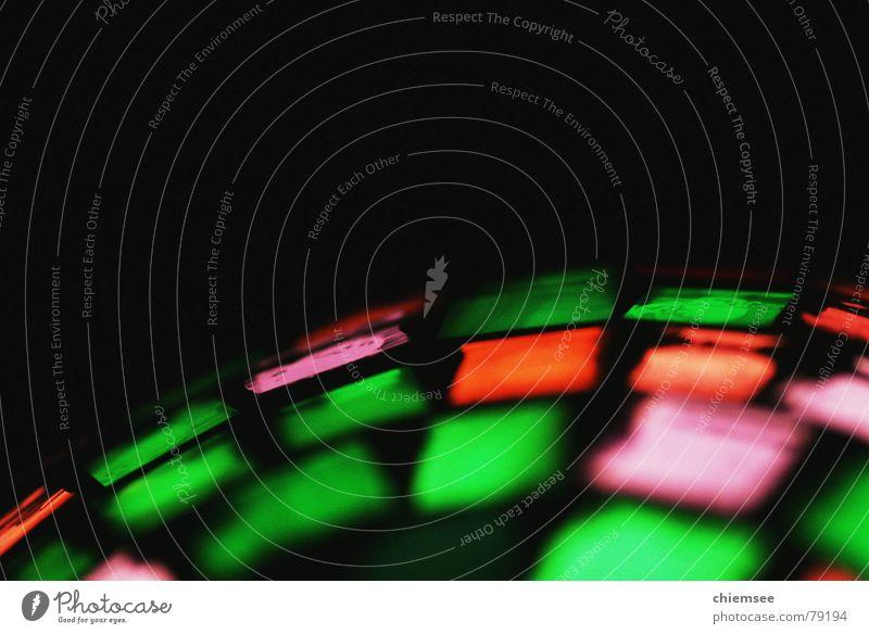 Lichtkugel rot schwarz Farbe Lampe orange Disco Kugel zusätzlich Leuchtrakete
