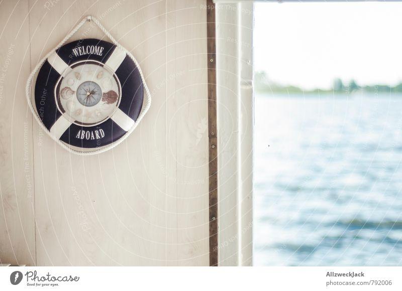 Willkommen an Bord! Kreuzfahrt Dekoration & Verzierung Schifffahrt Bootsfahrt Rettungsring Kompass Zufriedenheit Traurigkeit Nostalgie Ostalgie Wasserfahrzeug