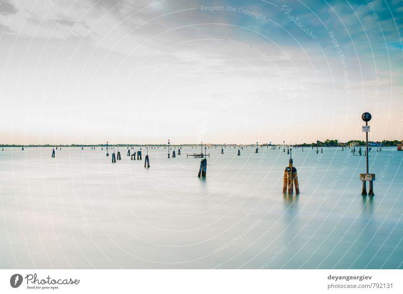 Seeroute nach Venedig Ferien & Urlaub & Reisen Tourismus Sommer Meer Landschaft Stadt Architektur Farbe Tradition Italien Wasser Europa Route Touristen Lagune