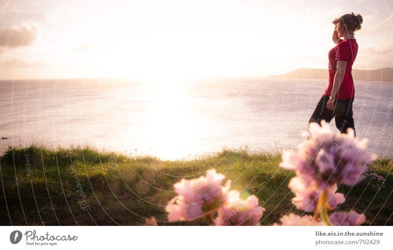 wochenende in sicht! Meer Ferne feminin Insel beobachten Republik Irland