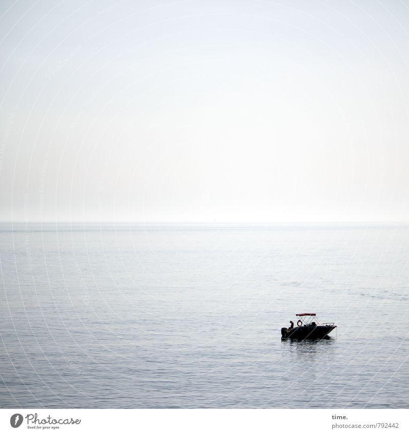 . Wasser Himmel Horizont Schönes Wetter Meer Mittelmeer Wege & Pfade Schifffahrt Bootsfahrt Sportboot Motorboot Zufriedenheit Leidenschaft Gelassenheit ruhig