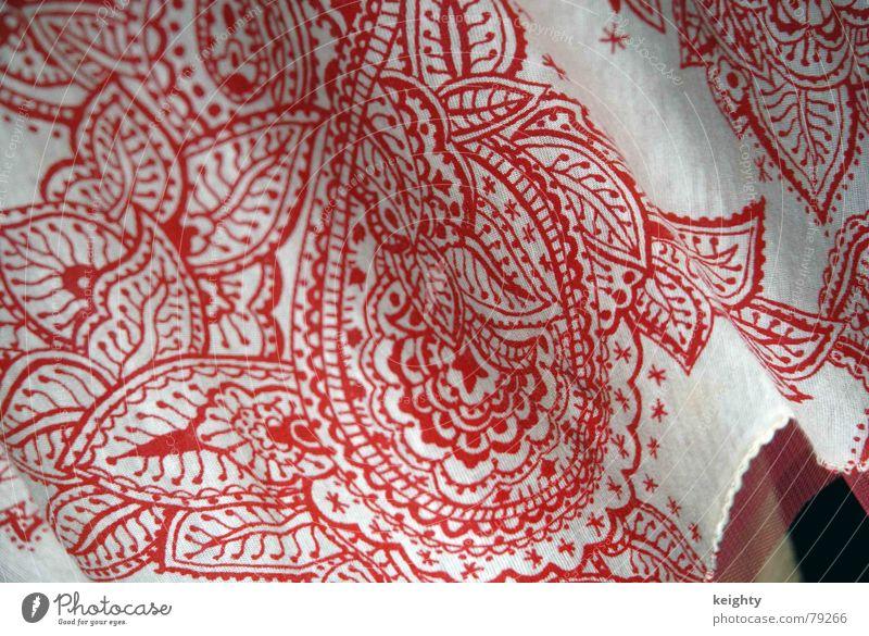 es rockt weiß rot Bekleidung Stoff fein tragen