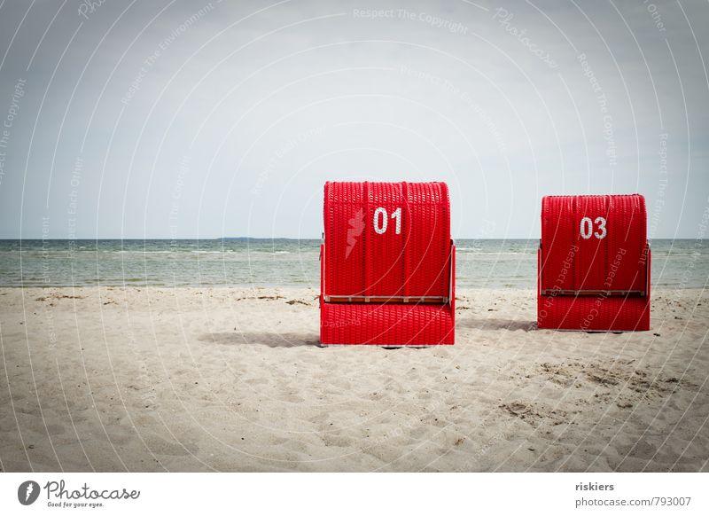 urlaub!! Himmel Natur Ferien & Urlaub & Reisen Wasser Sommer Sonne Erholung rot ruhig Strand Umwelt Sand träumen Wellen frisch Fröhlichkeit