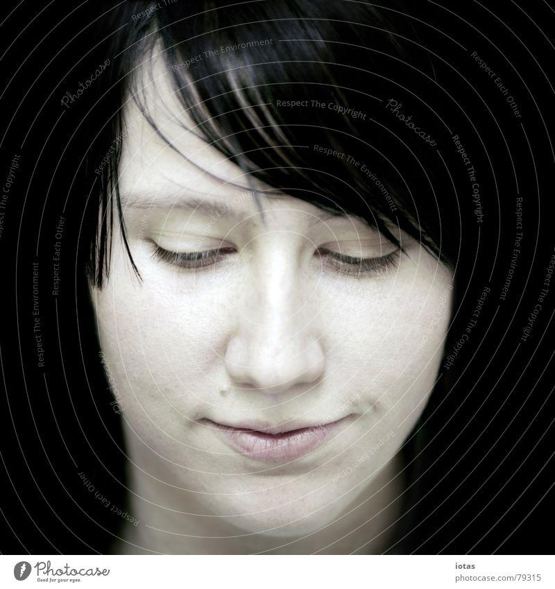 maria Frau schön Freude Farbe schwarz Gesicht Auge Leben feminin Haare & Frisuren geschlossen Nase ästhetisch Junge Frau Dame genießen