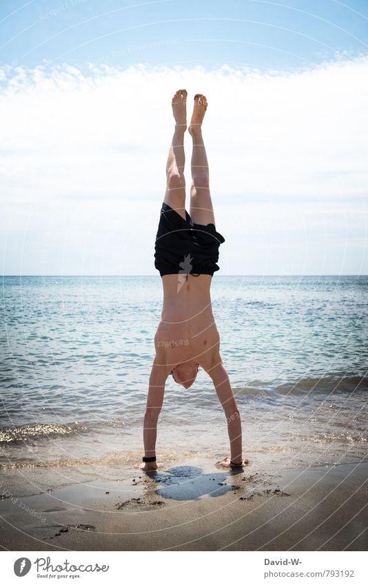 Handst(R)and Körper sportlich Fitness Wellness Leben Meditation Schwimmen & Baden Ferien & Urlaub & Reisen Abenteuer Ferne Freiheit Sommer Sommerurlaub Strand