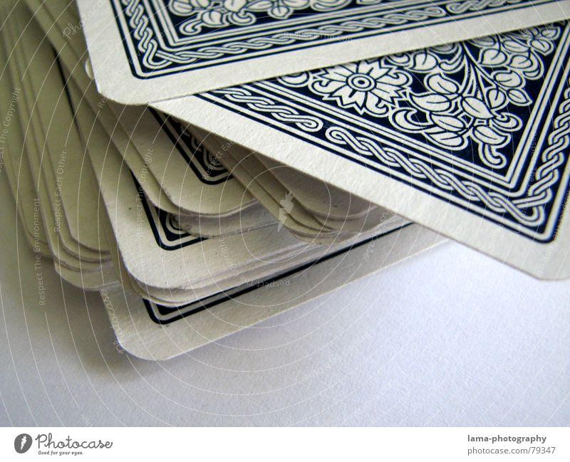52 x Zufall Spielen Glück Rücken Ecke Freizeit & Hobby Desaster Stapel durcheinander Spielkarte kariert Ass mischen Poker verdeckt Spielkasino ungewiss