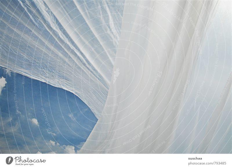 stückchen himmel Luft Himmel Wolken Kunststoffverpackung blau Falte undurchsichtig Material Plastikfolie Farbfoto Gedeckte Farben Außenaufnahme Experiment