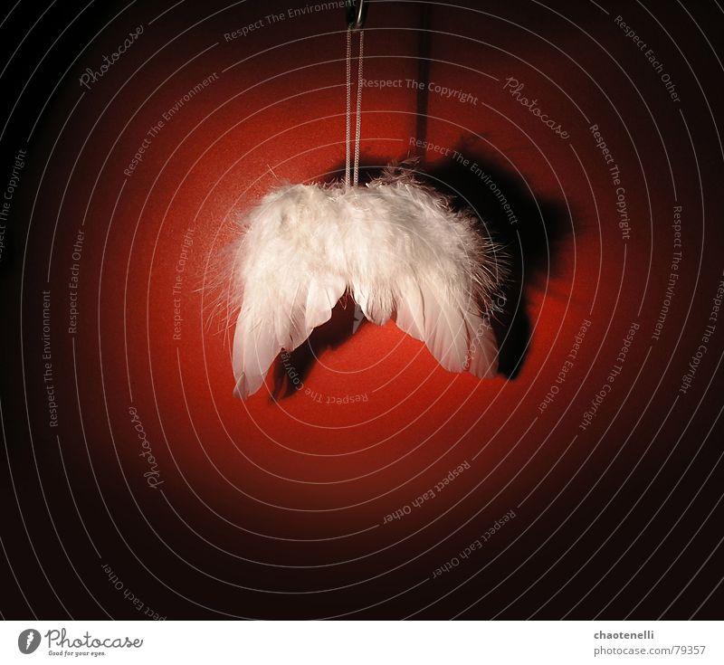 Engel a.D. Weihnachten & Advent rot fliegen Pause Flügel Religion & Glaube Haken flau