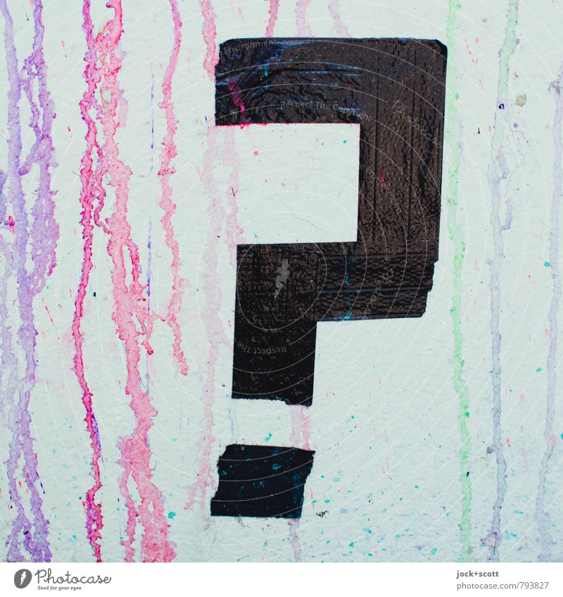 ¿ noch Fragen ? Freude Graffiti Stil Denken außergewöhnlich Linie Fröhlichkeit Kreativität einfach Vergänglichkeit Coolness Neugier geheimnisvoll neu nah