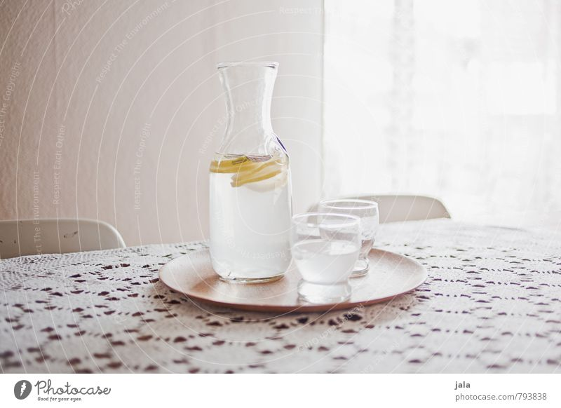 zitronenwasser Frucht Zitrone Getränk Erfrischungsgetränk Trinkwasser Limonade Zitronensaft Flasche Glas Tablett ästhetisch Flüssigkeit Gesundheit lecker