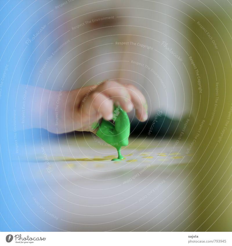 kleckserei - zwei grüne finger Freizeit & Hobby Mensch androgyn Kind Kleinkind Hand Finger 1 1-3 Jahre Maler Freude ästhetisch Kunst malen zeichnen tropfend