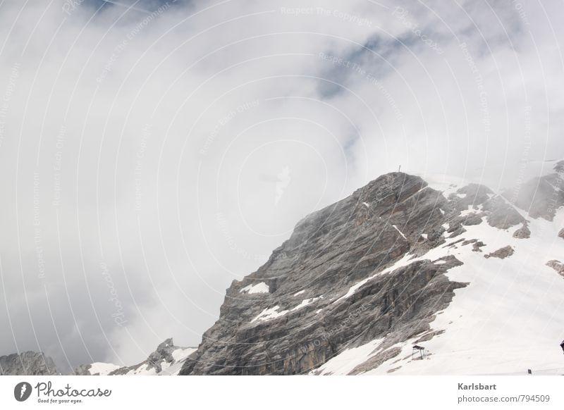 Zahnweh. Expedition Winter Schnee Winterurlaub Berge u. Gebirge Klettern Bergsteigen Fortschritt Zukunft Wolken Klima Hügel Felsen Alpen Gipfel