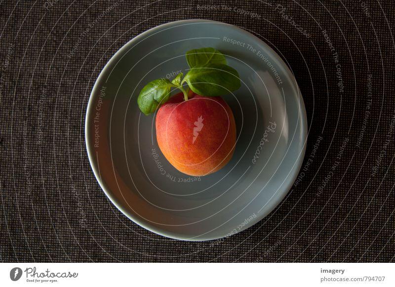 Basilipfirsich Stil Gesundheit Gesundheitswesen Gesunde Ernährung Fitness Übergewicht Wellness Leben Sommer Küche Essen Schalen & Schüsseln