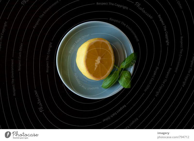 Zitrone à la Basilikum 2 Gesunde Ernährung gelb Leben Gesundheit Lifestyle Gesundheitswesen Lebensmittel Frucht Häusliches Leben ästhetisch Fitness