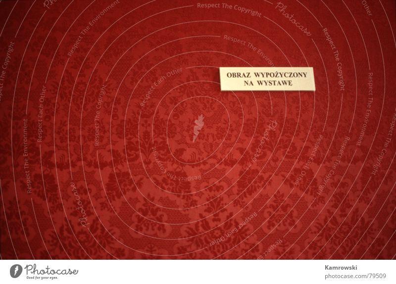 Dieses Bild ist zur Zeit verliehen rot Kunst Schilder & Markierungen Bild Tapete Burg oder Schloss Polen polnisch Empore Kunsthandwerk Warszaw