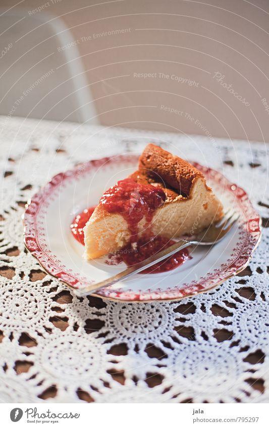 käsekuchen Lebensmittel Teigwaren Backwaren Kuchen Süßwaren Ernährung Kaffeetrinken Vegetarische Ernährung Teller Gabel lecker natürlich süß Appetit & Hunger