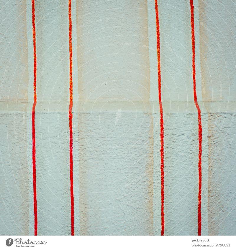 Eindruck Stil Häusliches Leben Tapete Grafik u. Illustration Straßenkunst Mauer Wand Fassade Putzfassade Dekoration & Verzierung Linie Streifen Ecke eckig