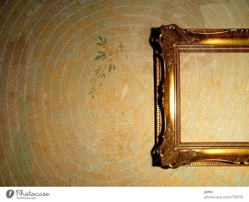 Unbewohnt Kunst Wand Haus Wohnung antik leer Licht Dekoration & Verzierung Wohnzimmer ein bild machen Bild alt gold Rahmen jarts