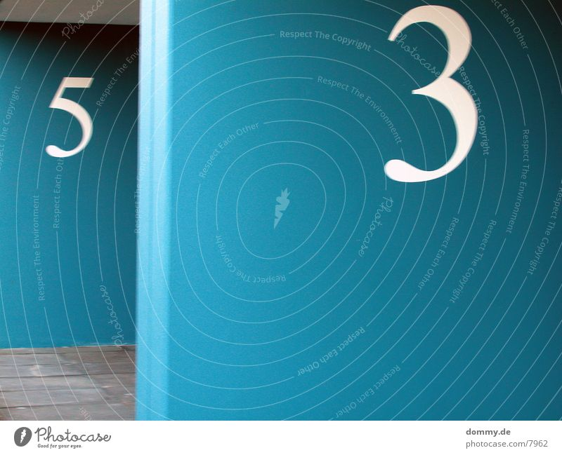 .:53:. ??? Ziffern & Zahlen Langzeitbelichtung dreiunsfünfzig blau kaz