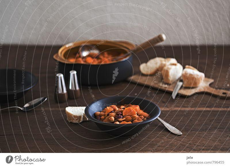 bohneneintopf Lebensmittel Gemüse Brötchen Kräuter & Gewürze Bohnen Süßkartoffel Kichererbsen Salz Pfeffer Ernährung Mittagessen Bioprodukte