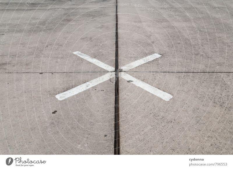 Im Mittelpunkt Güterverkehr & Logistik Verkehr Straße Wege & Pfade Verkehrszeichen Verkehrsschild Flughafen Flugplatz Zeichen Hinweisschild Warnschild Kreuz