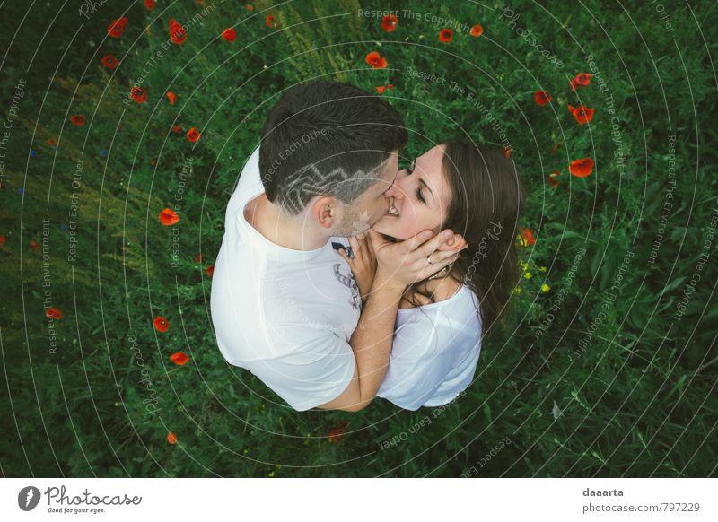 Mensch Jugendliche schön Junge Frau Freude Junger Mann Erotik Leben Stil lachen Glück Gesundheit außergewöhnlich Paar Freizeit & Hobby glänzend