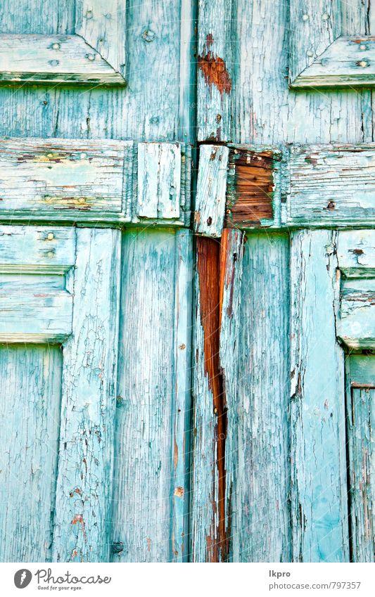 Ferien & Urlaub & Reisen blau alt rot Blume Blatt Haus schwarz Wand Architektur Mauer Gebäude Holz braun Metall Fassade