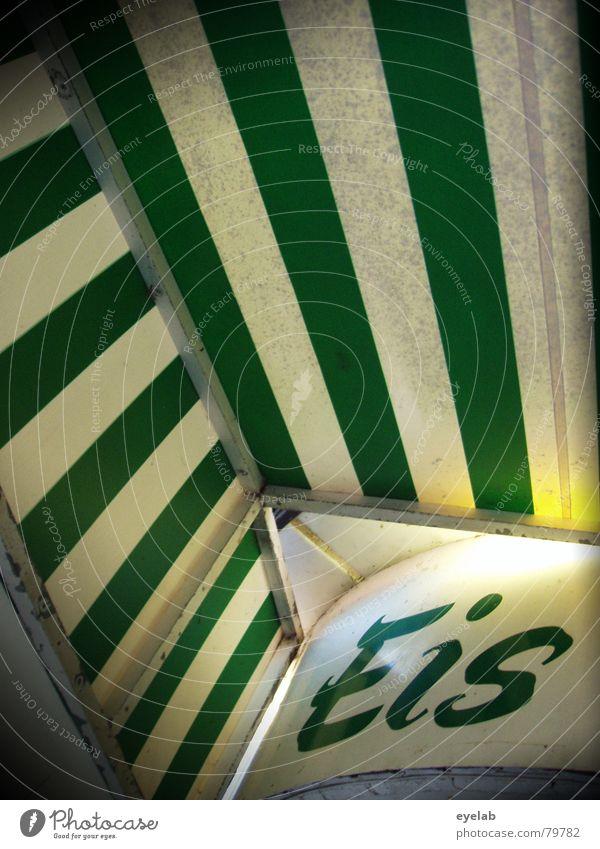 Es gibt Eis, Baby ! (100) kalt Physik Sommer Streifen Abdeckung grün Süßwaren frieren transpirieren Schnellzug Gastronomie Freude Wärme Linie Sonne freeze white