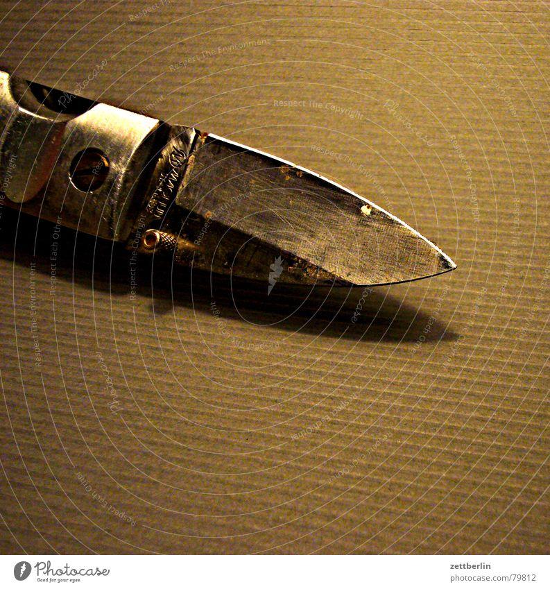 Messer Spielen Angst Freizeit & Hobby Apfel Blut Panik Zeitschrift Mord geschnitten Mafia Schneider Klinge