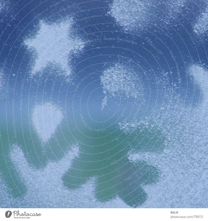 SPEEDSTAR blau Weihnachten & Advent kalt Fenster Innenarchitektur Feste & Feiern Hintergrundbild Glas Dekoration & Verzierung Frost Stern (Symbol) Kitsch