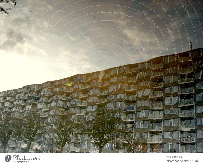 LIQUID LIVING Himmel Stadt blau Wasser Blatt Wolken Haus dunkel Fenster Straße Leben Architektur Traurigkeit Herbst Gebäude Freiheit