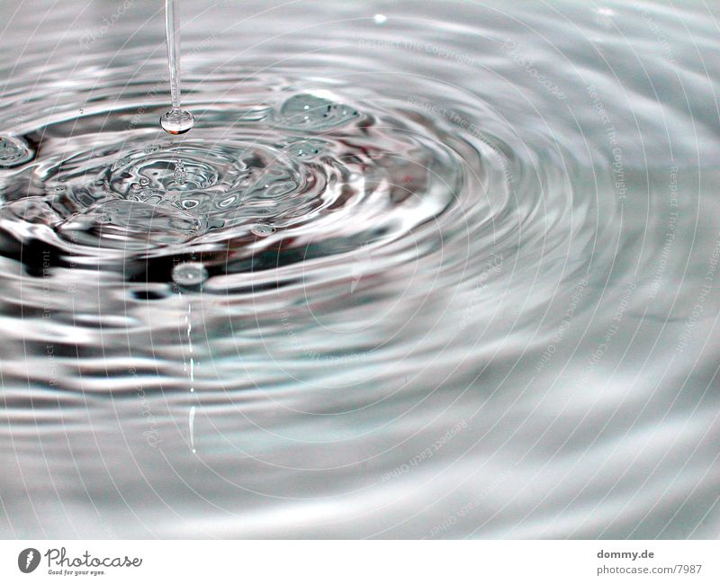 Wasserspiel Part 2 Wellen Wassertropfen Reaktionen u. Effekte Makroaufnahme